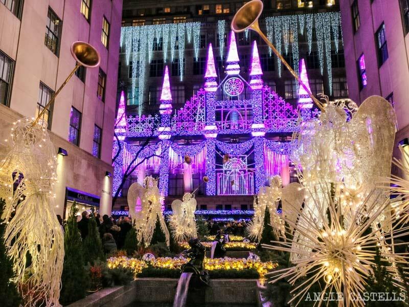 Las Navidades en Nueva York - Proyección de Saks en el Rockefeller Center