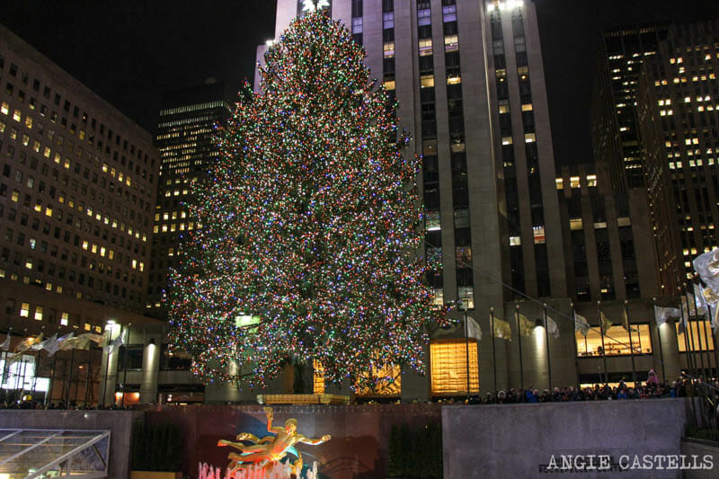 Las Navidades en Nueva York encendido del árbol del Rockefeller y Bryant Park