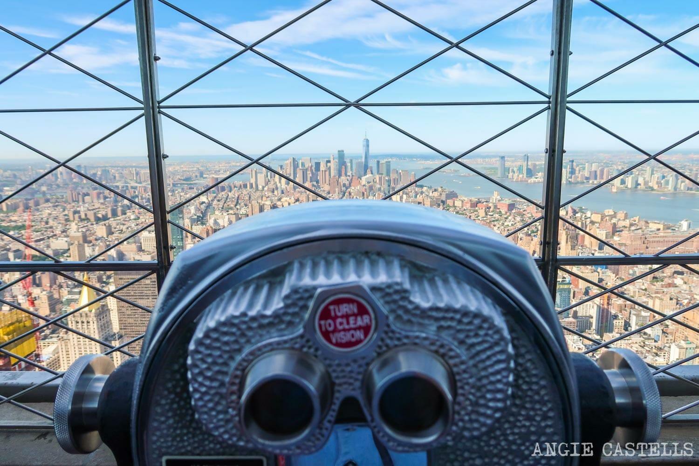 Las vistas de Nueva York desde el Empire State Building