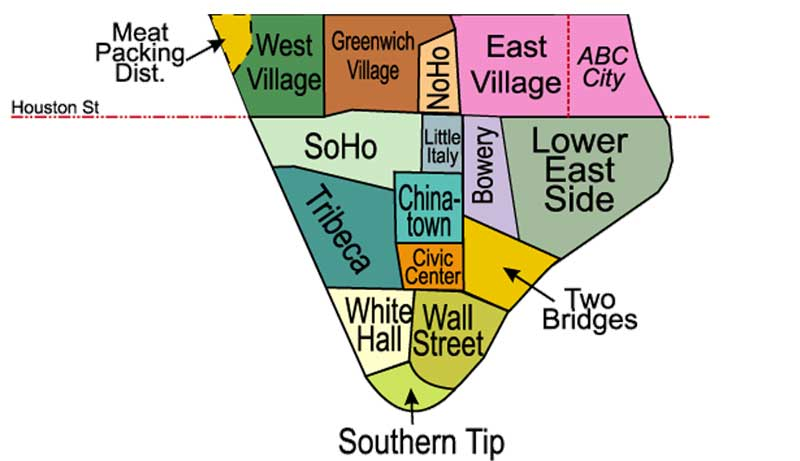 Mapa-de-barrios-de-Manhattan-Downtown