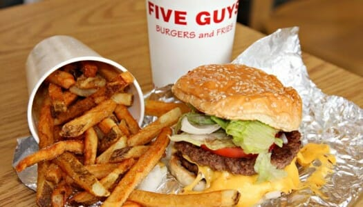 Las hamburguesas de Five Guys