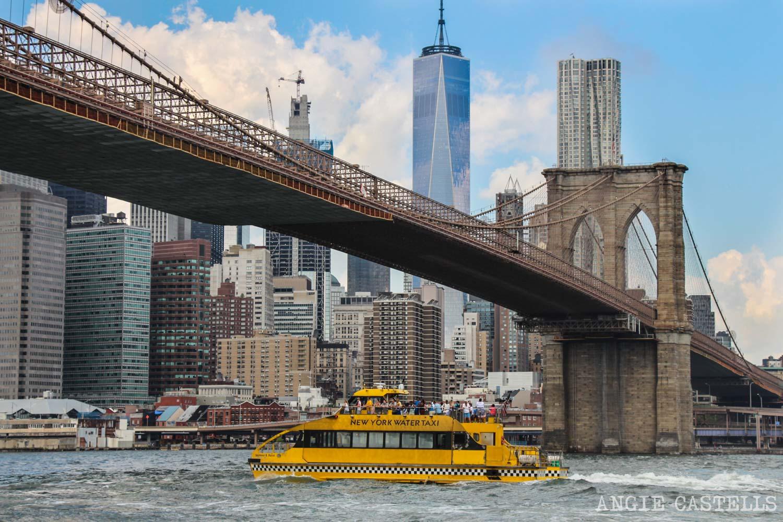Water Taxi por el río Hudson y el Brooklyn Bridge, uno de los tours más famosos de Nueva York