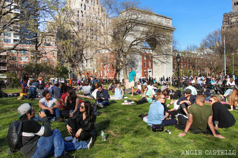 Diccionario de Nueva York con palabras típicas - Washington Square