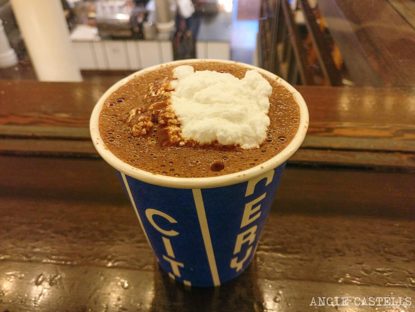 El mejor chocolate caliente de Nueva York - Hot chocolate de City Bakery
