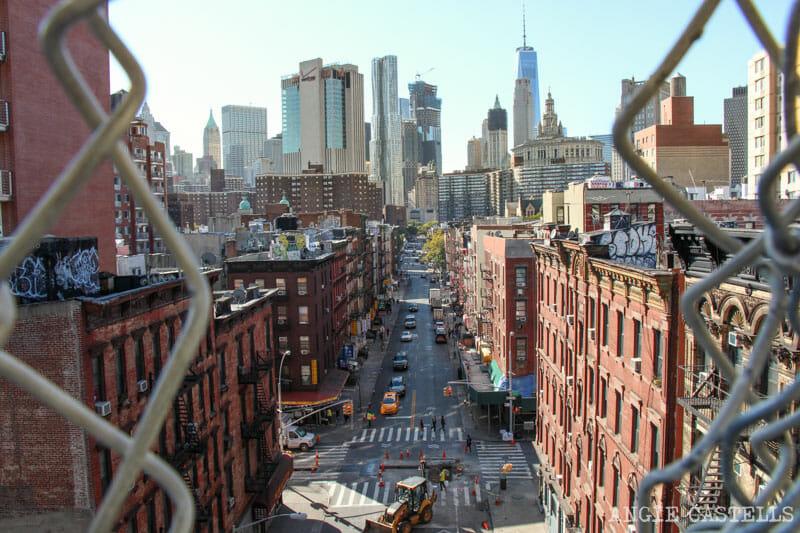 Cruzar el puente de Manhattan a pie desde Chinatown