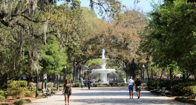 Guia de Savannah que ver y hacer Forsyth Park