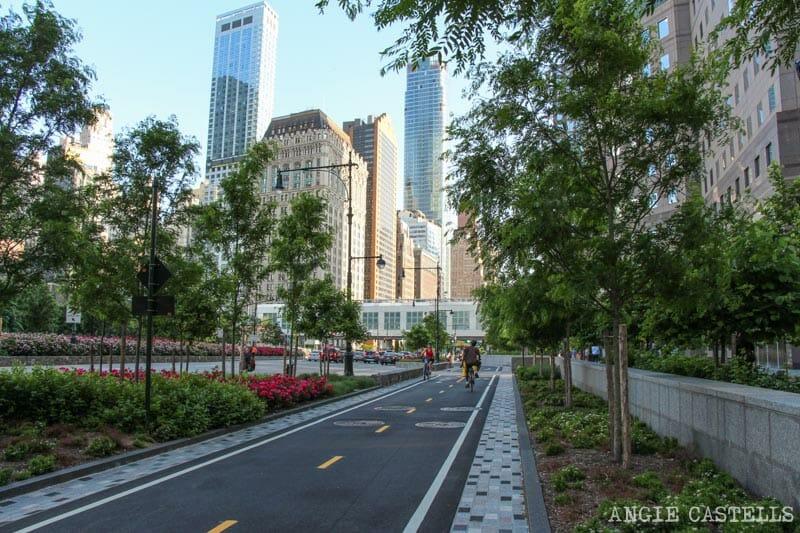 Ruta en bici por Nueva York: el One World y Battery Park