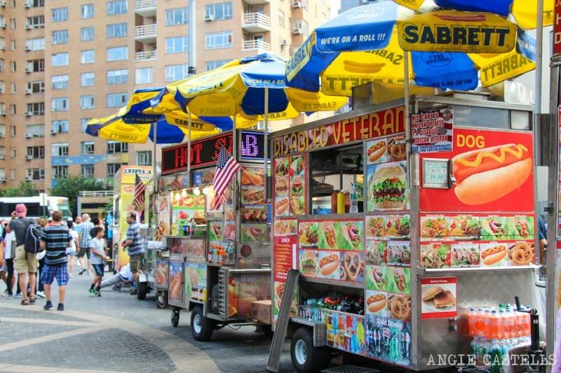 Curiosidades de Nueva York que te sorprenderán: los carritos de comida