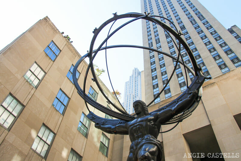 Guía del Rockefeller Center - La estatua Atlas
