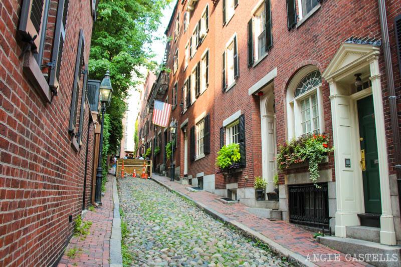Qué ver en Boston en una excursión desde Nueva York - Acorn Street