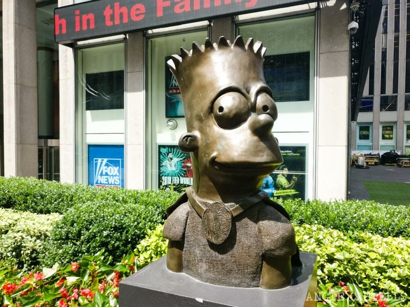 Lugares secretos de Nueva York - Estatua de Bart Simpson