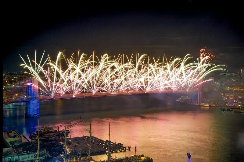 Dónde ver los fuegos artificiales del 4 de julio en Nueva York