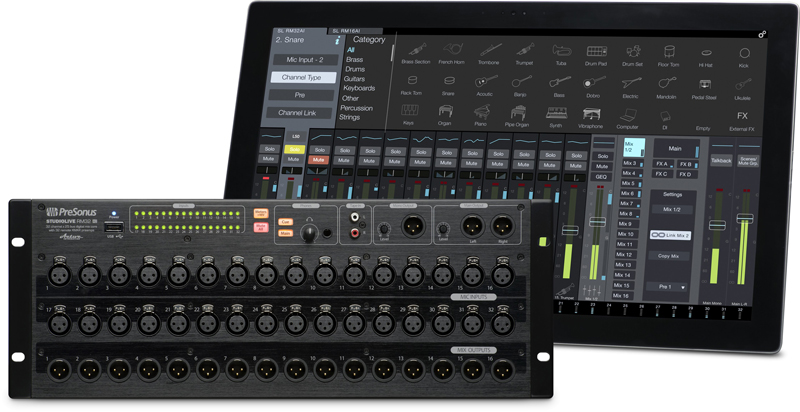 STUDIOLIVE RML32AI - Mikser Cyfrowy Rack