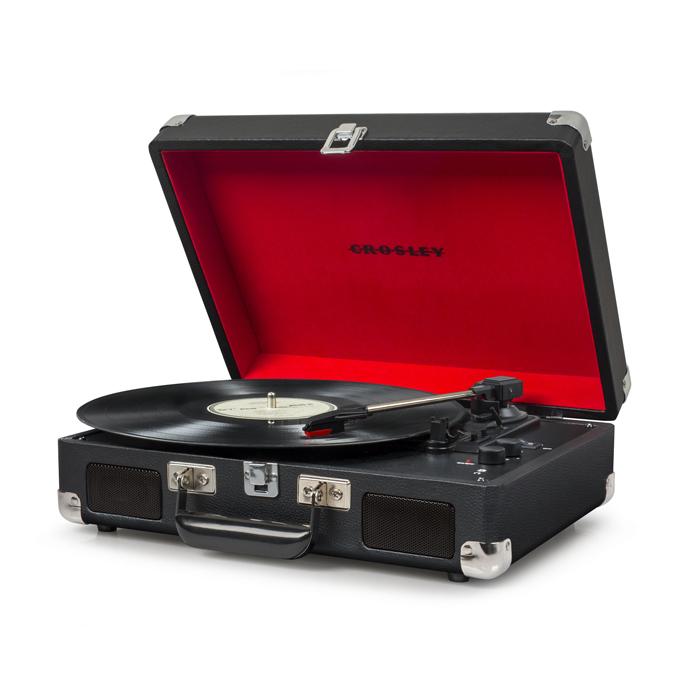 CRUISER DELUXE BLACK - Przenośny Gramofon