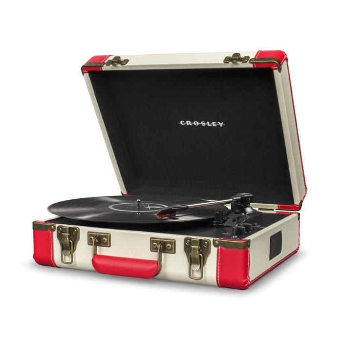 EXECUTIVE RED - Przenośny Gramofon