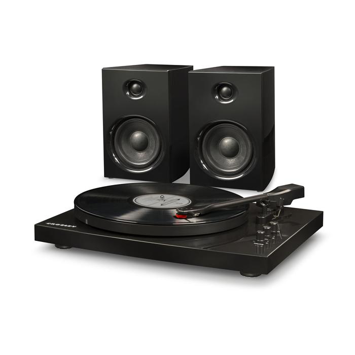 T100A BLACK - Gramofon + Głośniki