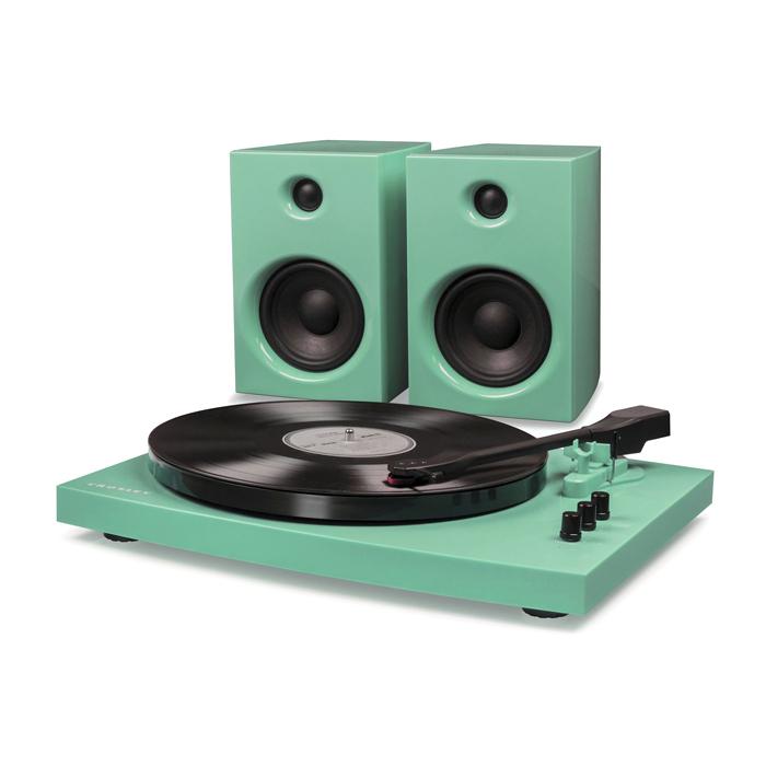 T100A TURQUOISE - Gramofon + Głośniki