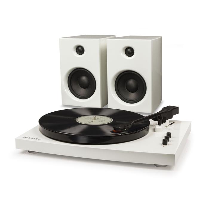 T100A WHITE - Gramofon + Głośniki