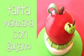 Información Aprende a elaborar una Tarta en forma de Manzana con Gusano