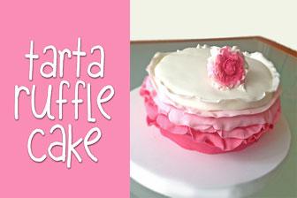 Información Aprende a decorar una Tarta Ruffle Cake