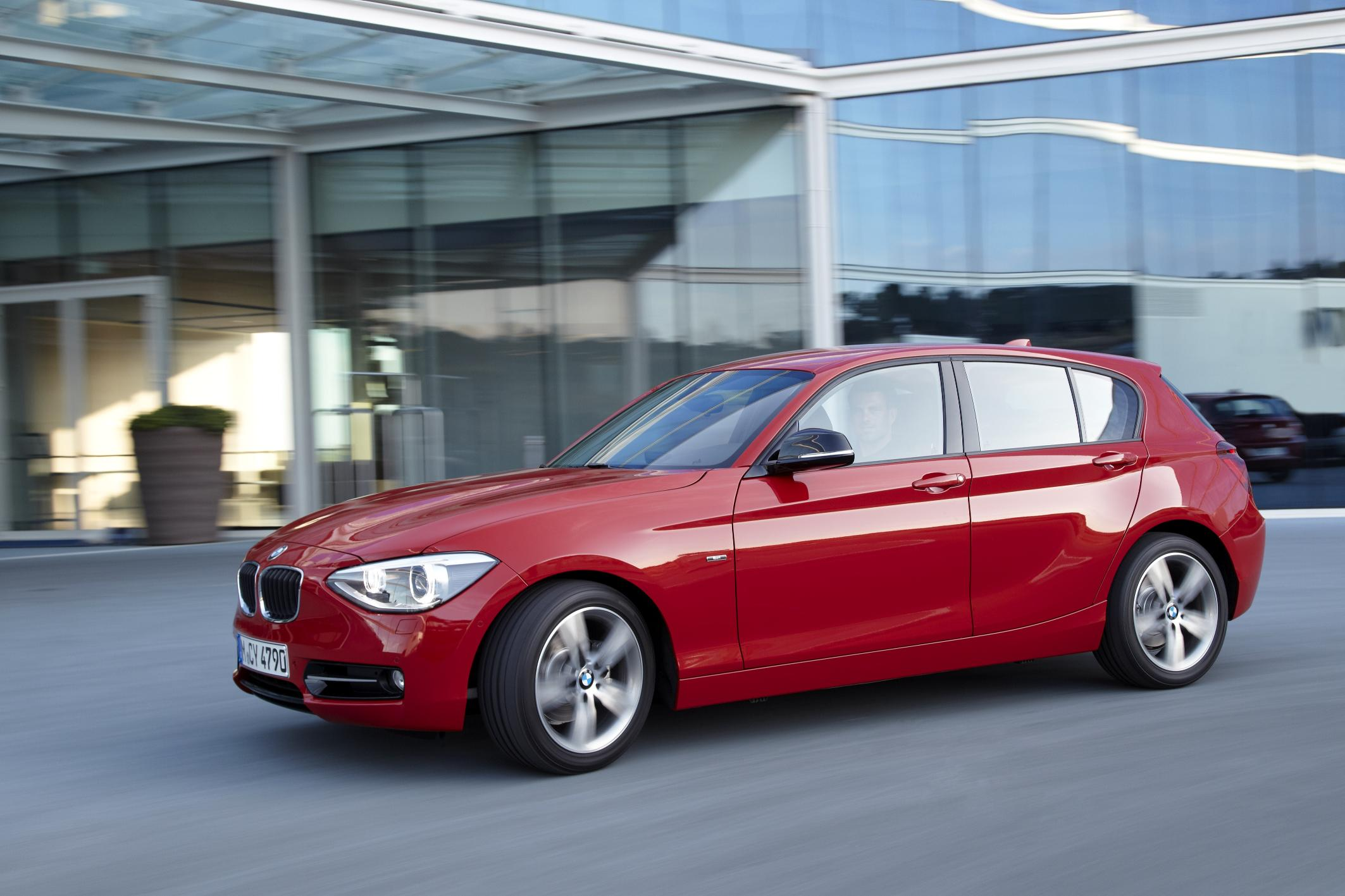 Red BMW 1 Series