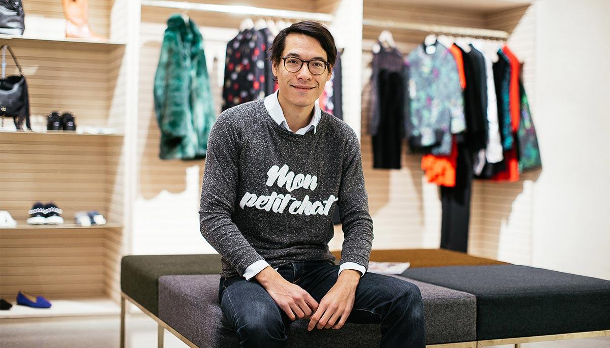 Régis Pennel, fondateur de L'Exception, dans son magasin