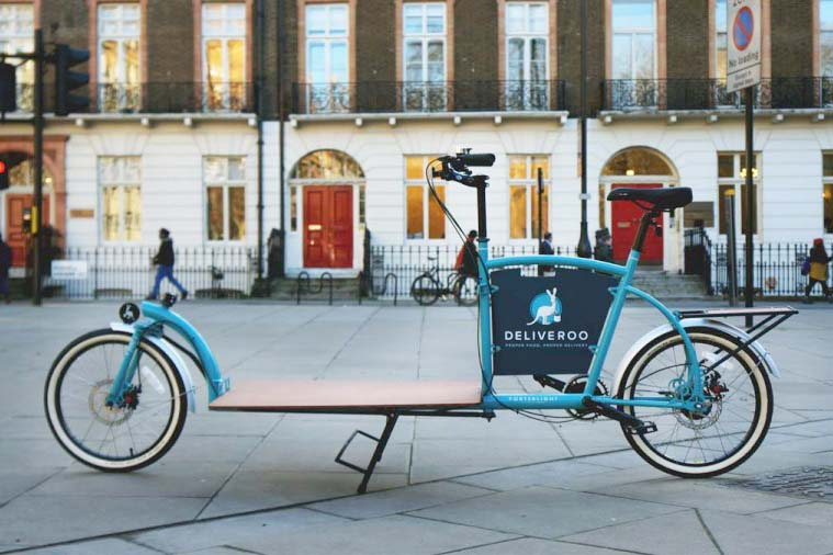 Le vélo cargo Porterlight Bicycles pour Deliveroo