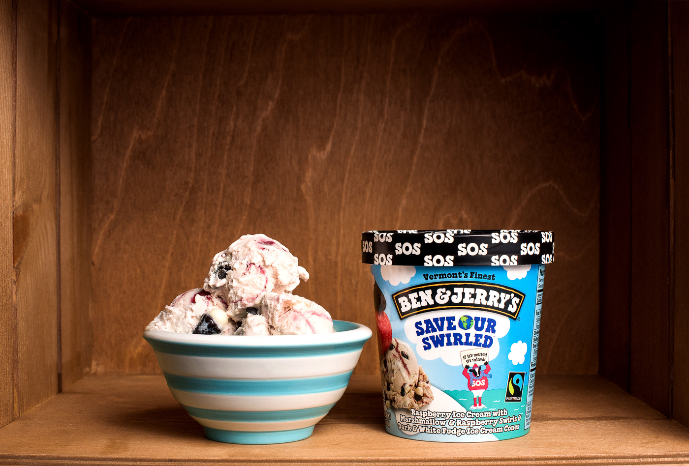 Ben & Jerry's Save Our Swirled ice cream
