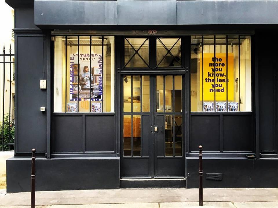 Vitrine de boutique atelier parisien Vitrine DD, pour location éphémère