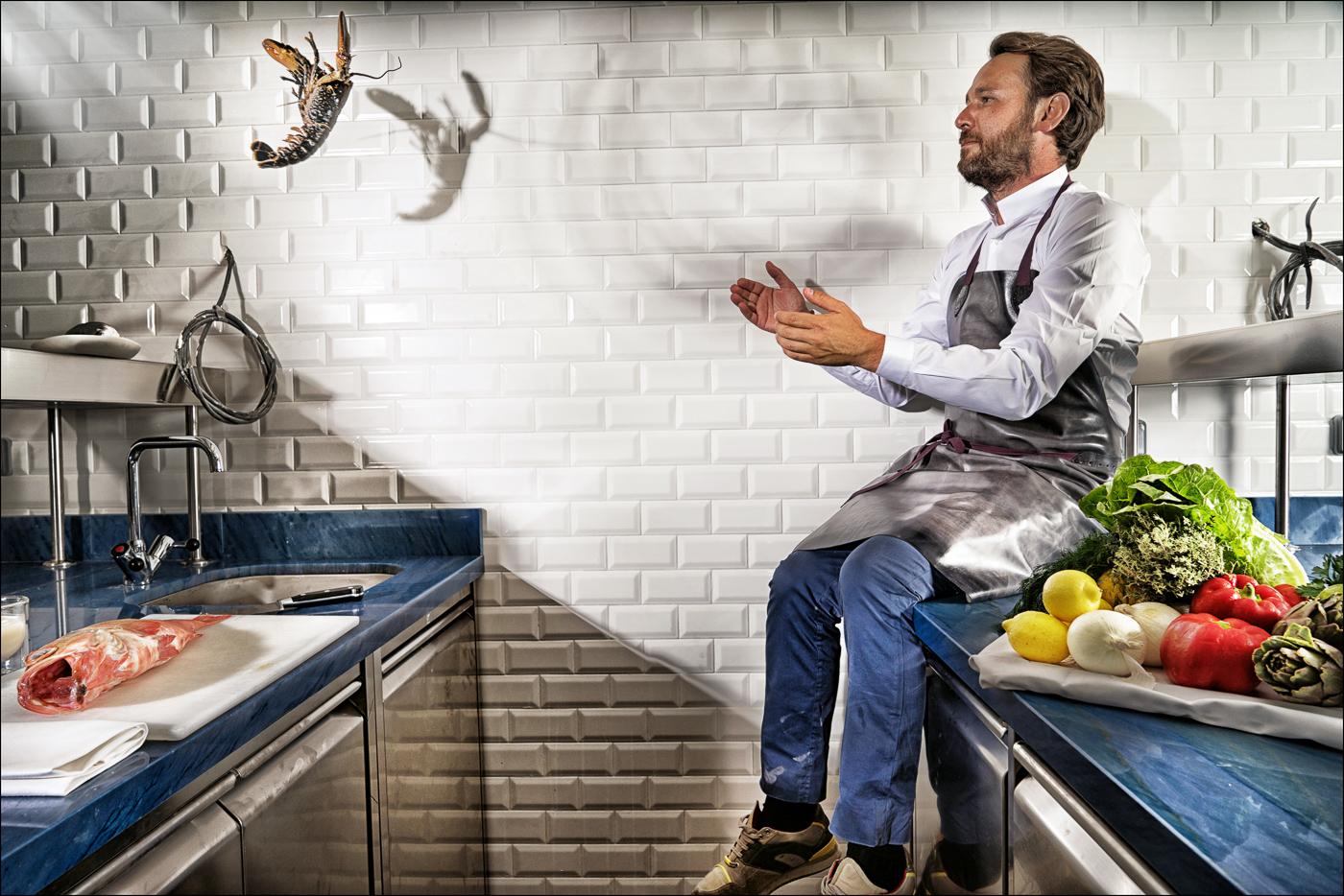 Le chef étoilé Mathieu Pacaud