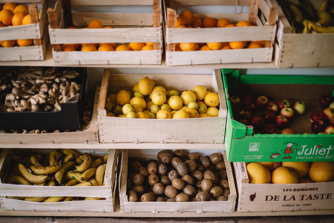 Cagettes de fruits