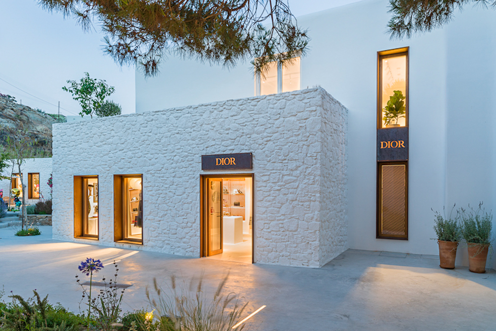 Pop Up Store Dior à Mykonos
