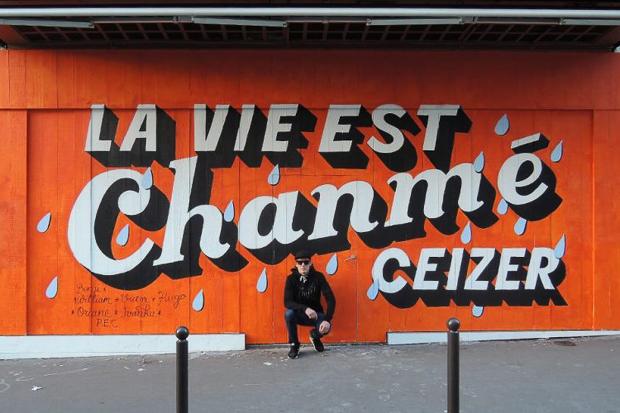 Fresque La vie est chanmé de Ceizer
