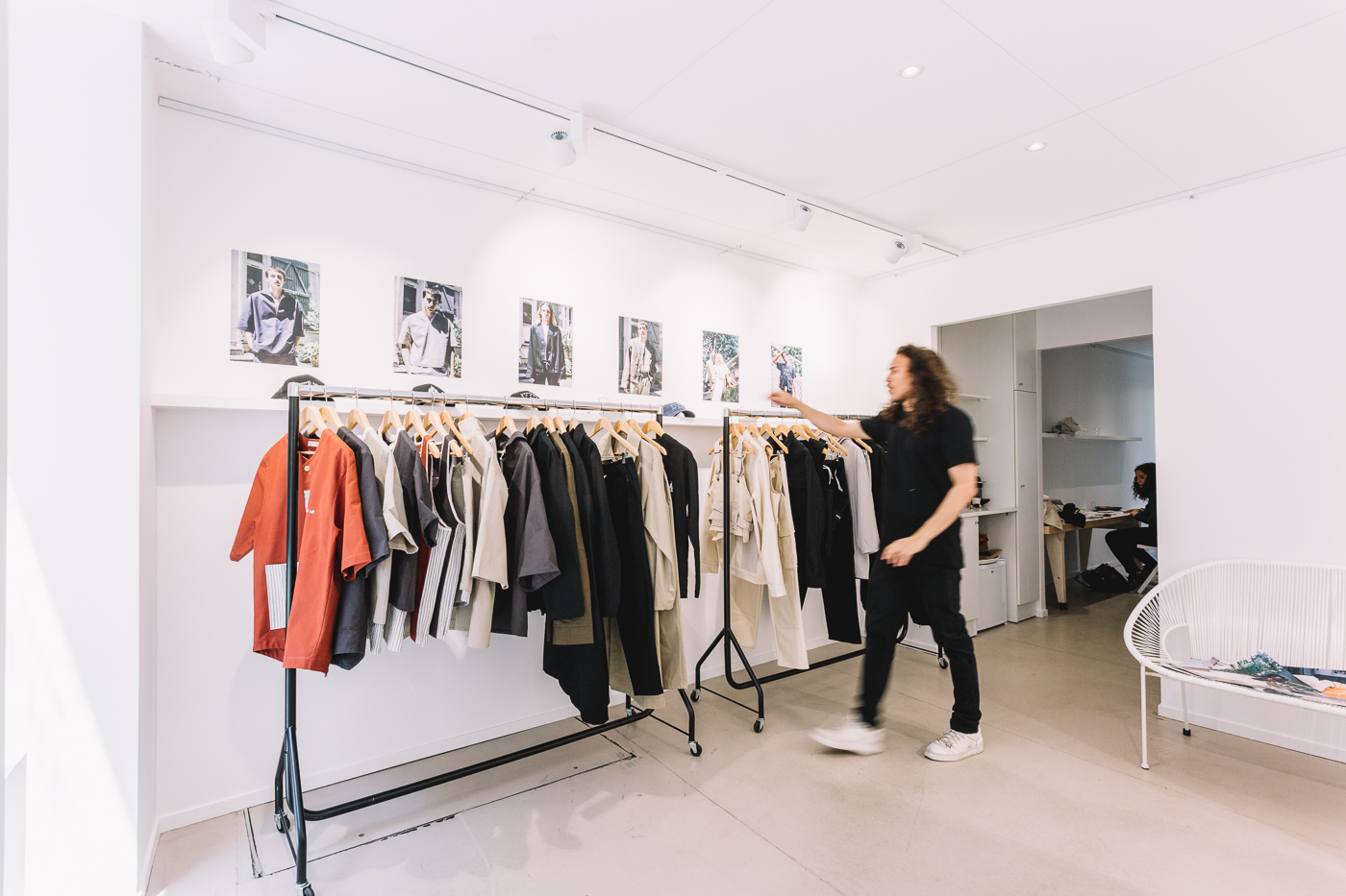 Photo du showroom de North Hill pendant la Fashion Week Hommme 2018