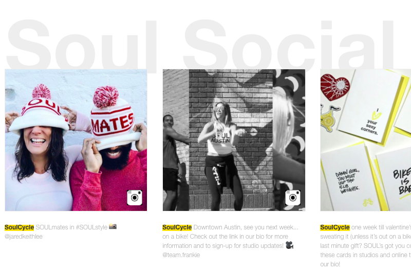 SoulCycle NYC store