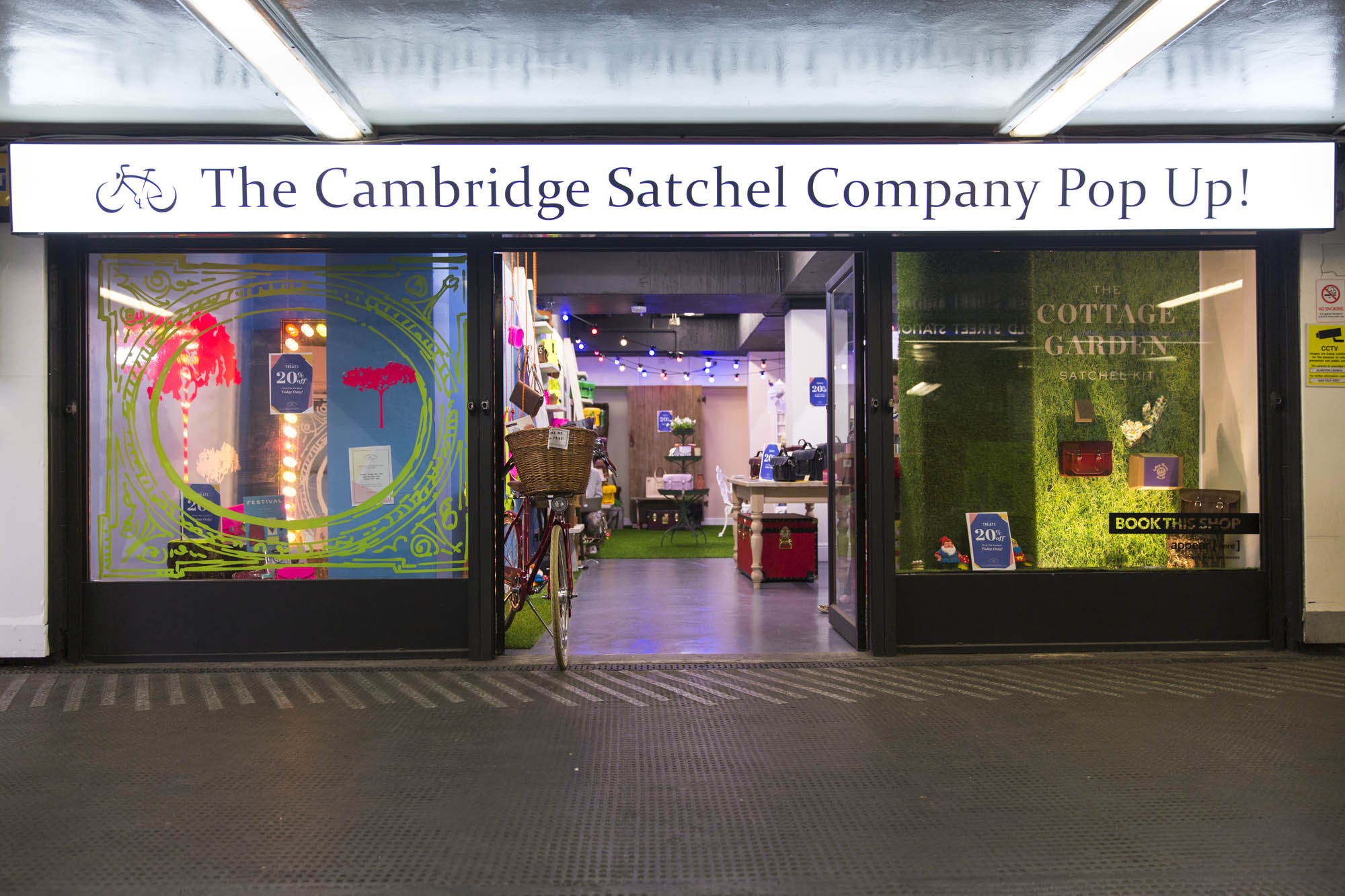 Cambridge Satchel pop up Old Street
