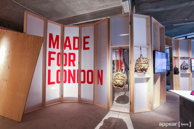 eastpak launches new retail concept madeforlondon appear here. Black Bedroom Furniture Sets. Home Design Ideas