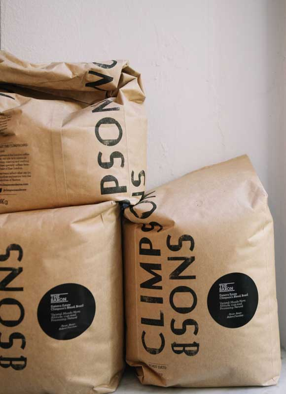 Coffee at 26 Grains supplied by Climpson and Sons