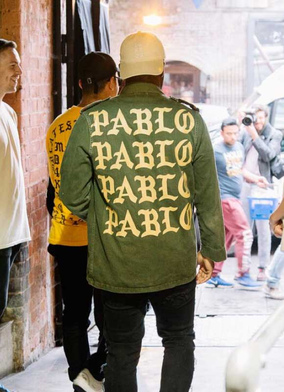 Kanye West in Life of Pablo shirt