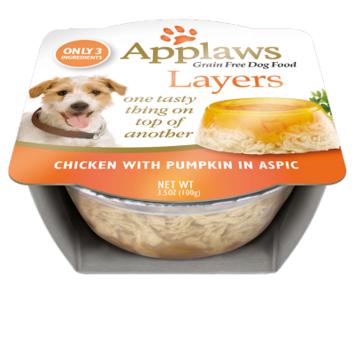Dog Layers Chicken with Pumpkin In Aspic