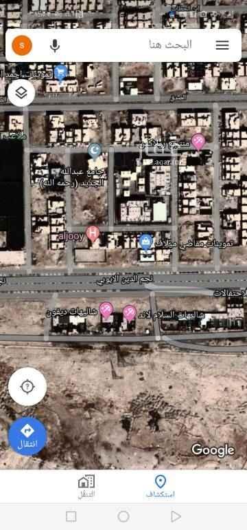 1748316 أرض تجارية للبيع على طريق نجم الدين.. مساحة ٩٠٠م.. عليها مبنى مؤجر والتجديد سنوي.. الأطوال ٣٠م في ٣٠م.. على السوم..