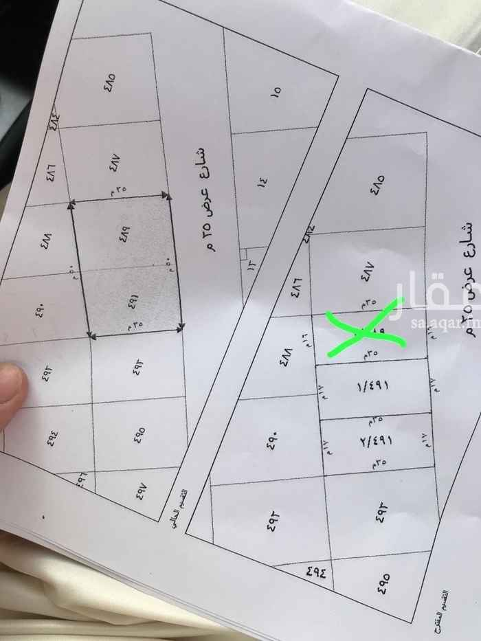 1814509 للبيع قطع اراضي بملقا نجد  مساحات ٥٩٥م جنوبي شارع ٢٥ اطوال ١٧*٣٥ بيع ٣٣٥٠ ريال صافي  مباشر مع المالك