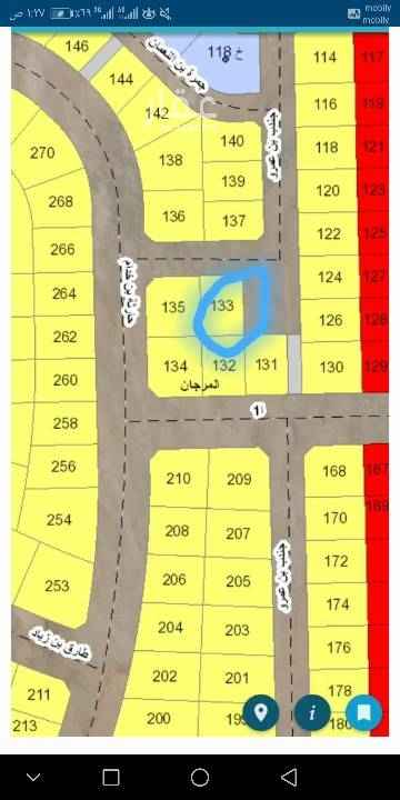 1434190 للبيع  ارض بمخطط ٢٠٩/٢  حرف (و)  مساحة ٨٦٧ م  شارع ٢٠ شمال وساحه شرق  الأطوال ٢٥ في ٣٥  السعر ٢٩٠ الف  مباشره  للإستفسار  ٠٥٠٠١١٣٠٣٠ أبو كمال