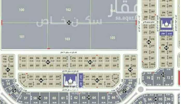 1677495 للبيع أرض في حي القيروان قيت مساحه 624م جنوبي شارع 18  الاطول 24في26 البيع على 2500غير الضريبه