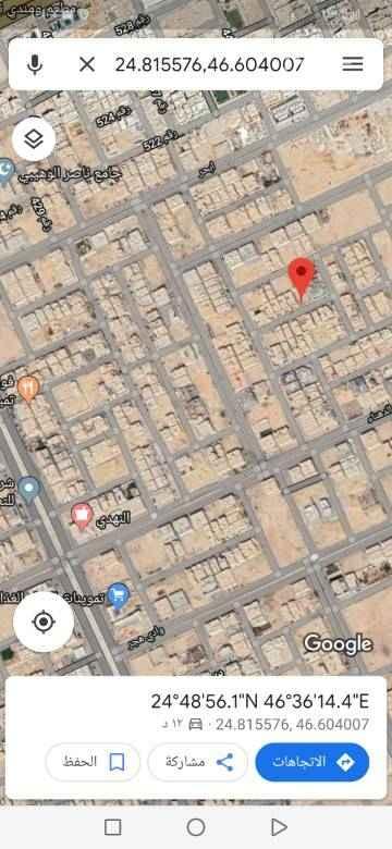 1558491 للبيع قطعه ارض سكنيه حي الملقا  مساحه 450م شارع 15 جنوبي الاطوال 15×30 السعر 2600+الضريبه