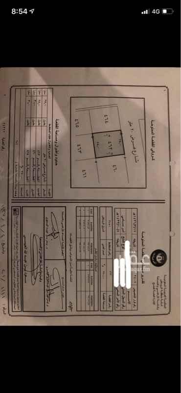 1584068 ارض للبيع تقع في مخطط ٣٤٥١ قطعه رقم ٤٦٢ حي شرق الرياض  مساحتها ٧٥٠ واجهتها شماليه على شارع عرض ٢٠ السوم ٣٧ الف