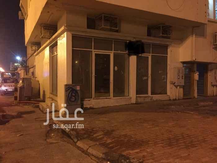 1242418 للإيجار محل زاويه في الرقيقه على شارع كاتب العدل  وبالقرب من مستشفى الملك فهد الموقع ممتاز