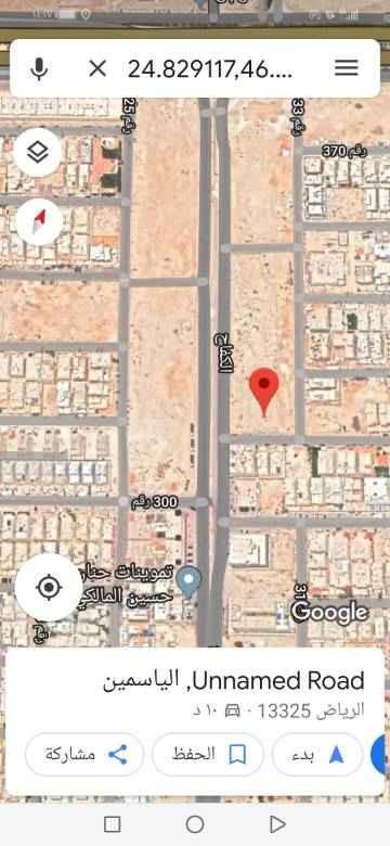 1667124 للبيع راس بلوك تجارى بالياسمين مربع ١٠  المساحه ٢٩٥٠م الشوارع ٣٦ غربي و١٥ جنوبي و١٥ شرقي  الاطوال ٥٩×٥٠ البيع ٢٨٥٠ على شور