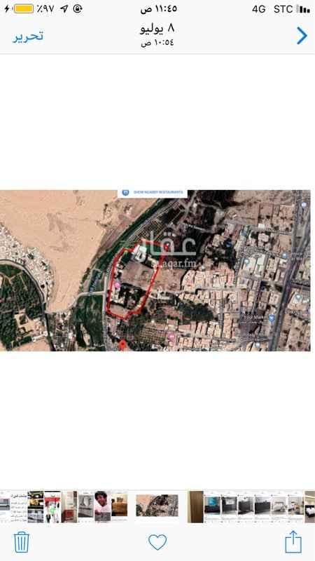 1792692 ارض للايجار بحي البديعة على وادي حنيفة   ارض استثمارية المساحة ١٩ ألف متر
