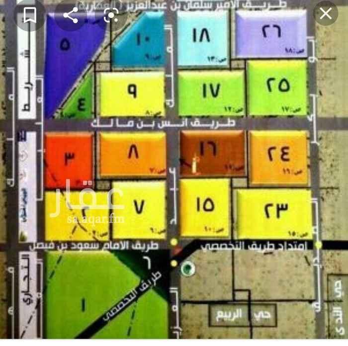 1764011 ارض للبيع بالياسمين المساحه ٧٢٨م السعر ٢٥٠٠ ريال